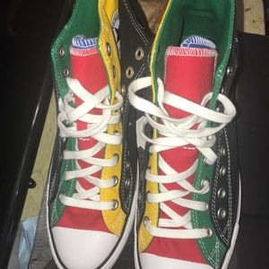 All multi color new converse